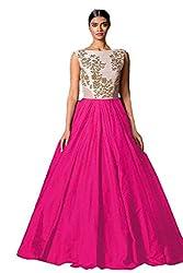 Fashion Dream Women's Bhagalpuri Silk Gown