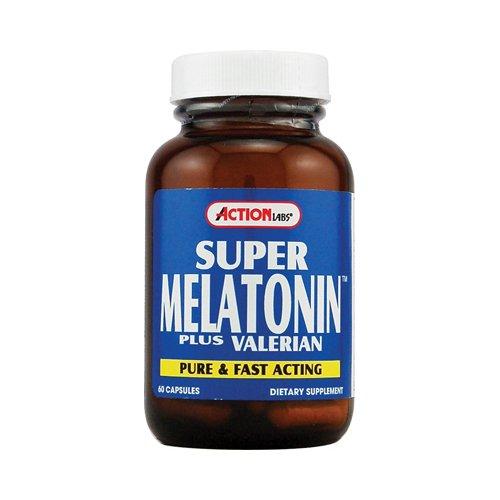 Action Labs Super Melatonin Plus Valerian Capsules