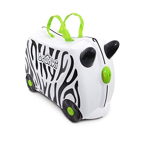 Trunki Knorrtoys Kinderkoffer Zimba Zebra Kindergepäck, 18 Liter, Weiß