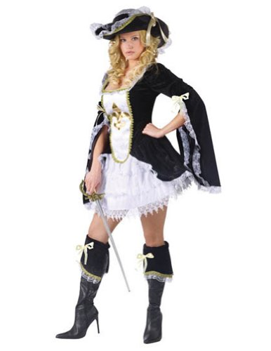 Midnight Musketeer Adult 10-14 Adult Womens Costume
