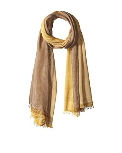 Fendi Women's Patterned Scarf, Tan/Yellow
