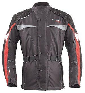 Roleff Racewear 6012 Blouson Moto Ulm, Noir/Rouge, S