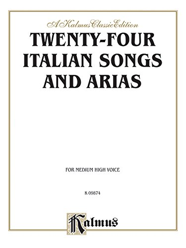 Twenty-Four Italian Songs And Arias: For Medium High Voice front-334227