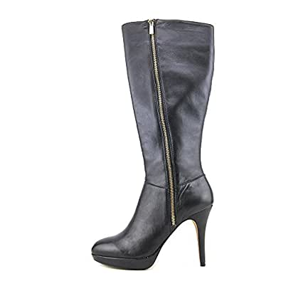 Amazon.com: Vince Camuto Emilian Women Black Leather Wide