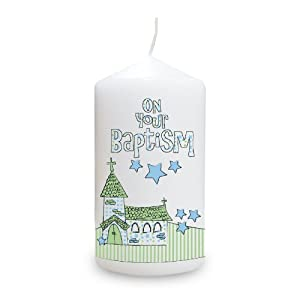 Blue Baptism Church Candle from PMC
