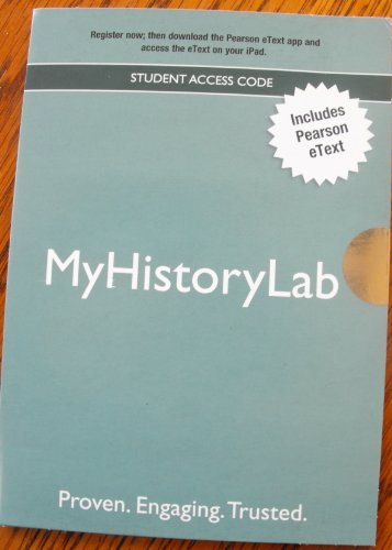 NEW MyHistoryLab with Pearson eText  Valuepack Access Card Picture