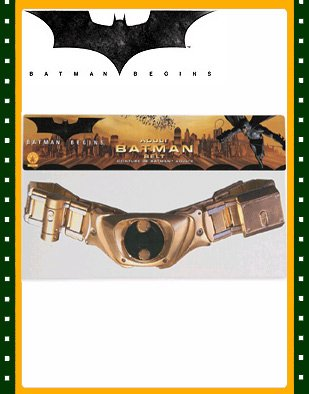 Buy New Batman Begins Bat Man Adults Costume Utility Belt