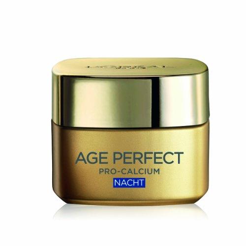 Loreal Age Perfect Gesichtscreme Pro-Calcium Aufbau-Nachtpflege, 1er Pack (1 x 50 ml)