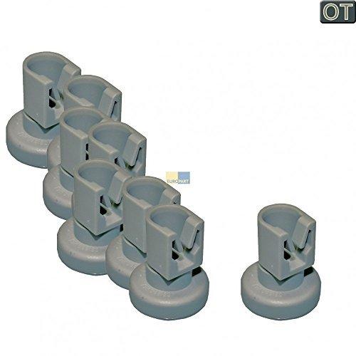 AEG 5028696700/0 Lot de 8 roulettes pour panier de lave-vaisselle Electrolux, Juno, Zanussi, Privileg, Progress, Quelle