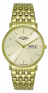 Rotary GB02624/03/DD Gents Gold PVD Stainless Steel Bracelet Watch