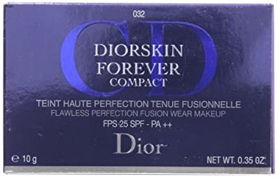 Christian Diorskin Forever Compact SPF 25 No.032 Makeup for Women, Rosybeige, 0.35 Ounce