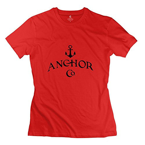 Tgrj Women'S Tshirts - Funny Anchor T Shirt Red Size Xs