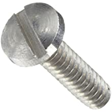 Precision Stainless Steel 303 Machine Screw, Binding Head, Slotted Drive, ANSI B18.6.3