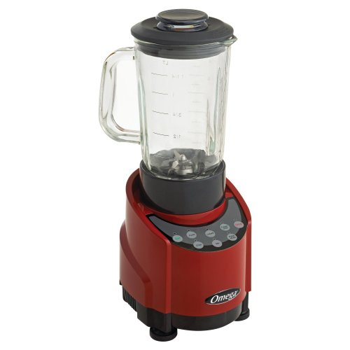 Omega Slk100Gr 1-Hp Red Blender With 48-Ounce Glass Container