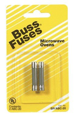 "Bussmann Fuse Fast Acting, Microwave Oven 20 Amp 250 V 1/4"" X 1-1/4""Cd 2"