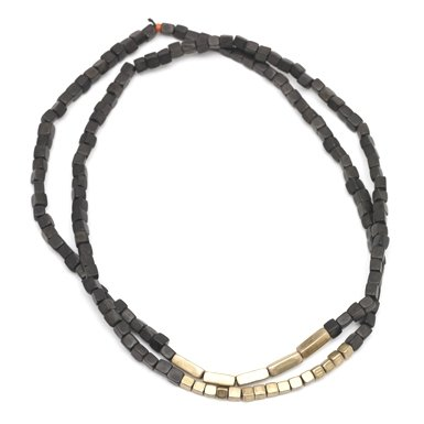 Black Wood Bead Necklace