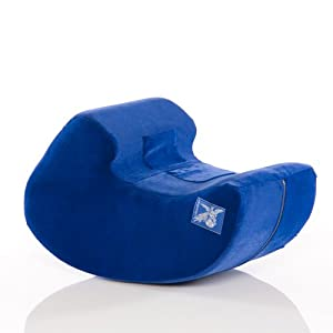 Liberator Pulse Sex Positioning Pillow and Toy Mount, Blue Microfiber