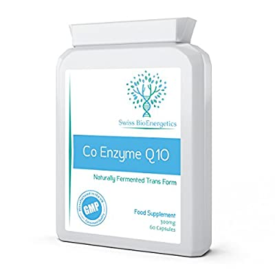 Co Enzyme Q10 CoQ10 300mg 60 Capsules - Superior Naturally Fermented Trans Form by Swiss BioEnergetics