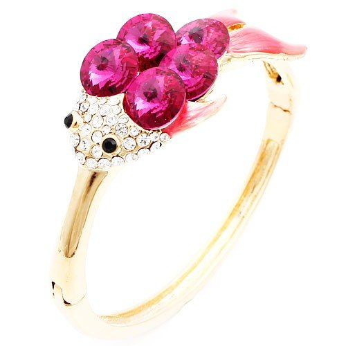 MFYS 2013 Novelty Fish Bangle Bracelet for Women