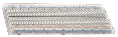 BB830 Solderless Plug-in BreadBoard - 830 tie-points - 4 power rails - 65 x 22 x 03in 165 x 55 x 9mm