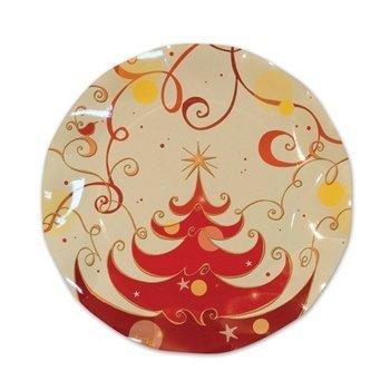 Christmas Tree Medium Plates   (10/Pkg) (Annual Halloween Costume Party)