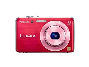 Panasonic Lumix DMC FH-8 16.1 MP Digital Camera with 5x Wide Angle Optical Image Stabilized Zoom (Red)