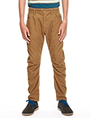 Straight Leg Corduroy Trousers