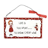 Language of Life Hanging Plaque - Life is too short...