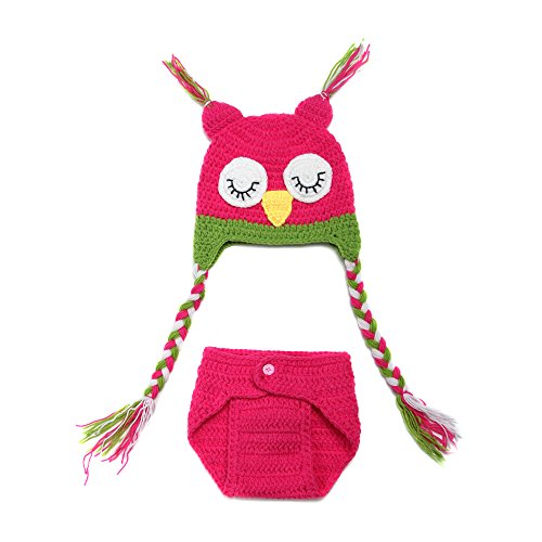 Elee Infant Boy Girl Owl Crochet Knit Beanie Costume Photography Prop 3-18 Month