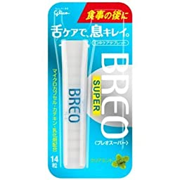 Glico Japan BREOSUPER <clear mint> Breath tablet snacks 14 tablets × 5 pieces