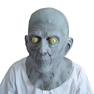 Halloween Terror Mask Old Man Elderly Bald Latex Mask Fancy Dress from KingMas