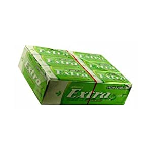 Extra Cool Green Apple Sugar Free Gum - 12 Fifteen Stick Packages