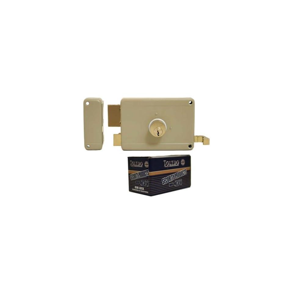 Deadbolt Rim Night Latch Lock TOLEDO TO11 Left (Double Bolt Cylinders   Keyed Alike Yale Keyway) Left Hand   Inward Rim Lock