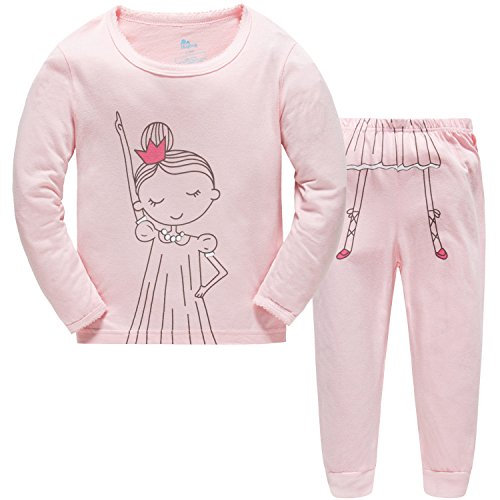 Hugbug Toddler Girls Funny Dance 2-Piece Pajama Set 2-7T