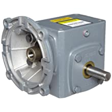 "Boston Gear F7155KB5J Right Angle Gearbox, NEMA 56C Flange Input, Left Output, 5:1 Ratio, 1.54"" Center Distance, 1.72 HP and 291 in-lbs Output Torque at 1750 RPM"