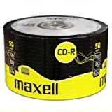 50 MAXELL CDR Media Audio Blank Discs Disk CD-R Recordable CD 80 mins 52X 700MB
