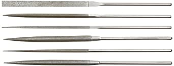 Strauss 6 Piece Needle File Set, Diamond Grit, Fine, 160mm Length