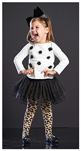 Mud Pie Girls Leopard & Sequin Skirt Dress Outfit Set , Multi, 5T front-541367