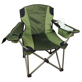 Big & Tall Folding Camp Chair (Super Strong, Extra Wide, Padded, Drink Holder) front-94743