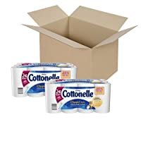 Cottonelle Clean Care Toilet Paper, Double Roll, 24 Count (Pack of 2)