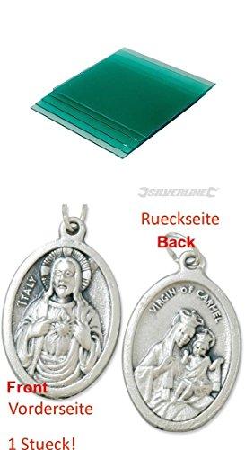 Schweihelm-Schutzscheiben-5er-Pckg-uere-Scheibe-757060-Ersatzglser-Schweischirm-Schweischild-mit-einem-Anhnger-Herz-Jesu-25cm