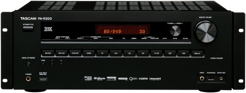 TASCAM PA-R200 7.2-Channel Surround Receiver with Network Function (Black)