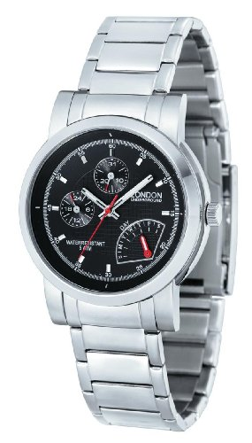 Mens Day Date 24 Hour Dress Watch by London Underground LU-111113-A
