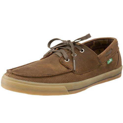 Sanuk Men's Shore Leave Sidewalk Surfer,Brown,11