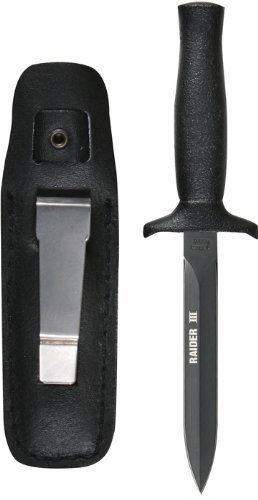 Rothco Raider III Boot Knife, Black Matte