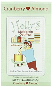 Holly's Au Natural Oatmeal, Cranberry Almond, 16-Ounce Boxes (Pack of 6)