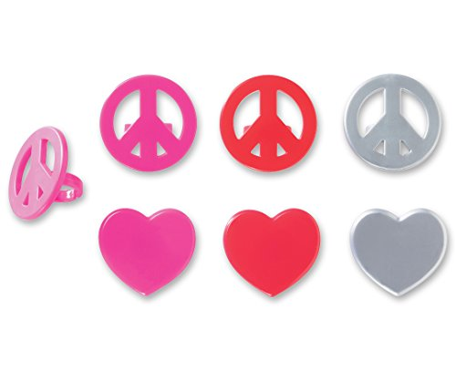 DecoPac Peace & Love Cupcake Rings (12 Count) - 1