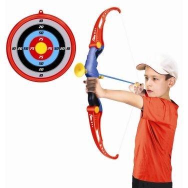 Set Arciere per bambino con Arco Frecce a Ventosa e Bersaglio