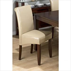 Sandstone Bonded Leather Chair Set of 2