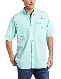 Columbia Men's Bonehead Short Sleeve Fishing Shirt (Gulf Stream, Medium)